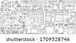 floor plan icon set in top view ... | Shutterstock .eps vector #1709528746