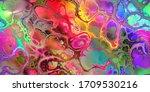 Bold Multicolored Marbleized...