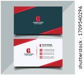 business card design   double... | Shutterstock .eps vector #1709540296