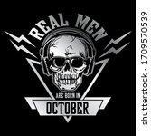 t shirt logo design  skull with ... | Shutterstock .eps vector #1709570539