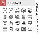 billboard simple icons set.... | Shutterstock .eps vector #1709571763
