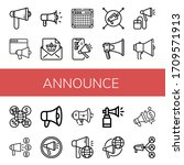 set of announce icons. such as... | Shutterstock .eps vector #1709571913