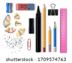 stationery realistic design of... | Shutterstock .eps vector #1709574763