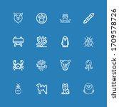 editable 16 wildlife icons for... | Shutterstock .eps vector #1709578726