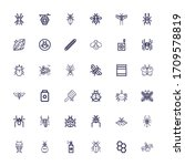 editable 36 insect icons for... | Shutterstock .eps vector #1709578819
