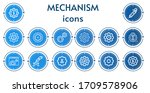 editable 14 mechanism icons for ... | Shutterstock .eps vector #1709578906