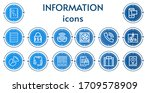 editable 14 information icons... | Shutterstock .eps vector #1709578909