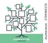 elegant flat tree with photo... | Shutterstock .eps vector #1709585170