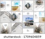 brochure layout of square... | Shutterstock .eps vector #1709604859