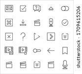 big set of edit line icons....