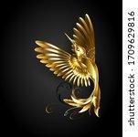 hand made painter golden... | Shutterstock .eps vector #1709629816