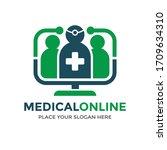 medical online vector logo... | Shutterstock .eps vector #1709634310