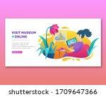 Visit Museum Online Colorful...
