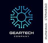 gear technology vector logo... | Shutterstock .eps vector #1709648263