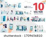 patients hospitalization ... | Shutterstock .eps vector #1709656810
