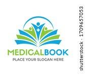 medical book vector logo... | Shutterstock .eps vector #1709657053