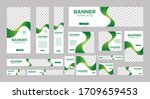 set of creative web banners of... | Shutterstock .eps vector #1709659453
