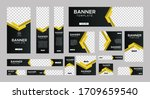 set of creative web banners of... | Shutterstock .eps vector #1709659540