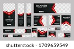 set of creative web banners of... | Shutterstock .eps vector #1709659549