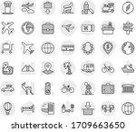 editable thin line isolated... | Shutterstock .eps vector #1709663650