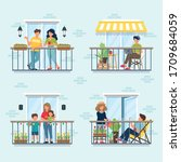 People On Balcony  Social...