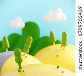 minimal summer beverage...   Shutterstock . vector #1709703439