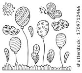 Hand Drawn Balloons And...