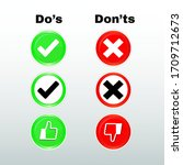 do's and don'ts sign icons....   Shutterstock .eps vector #1709712673