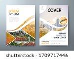 annual report brochure flyer... | Shutterstock .eps vector #1709717446