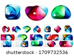 set of abstract backgrounds ... | Shutterstock .eps vector #1709732536