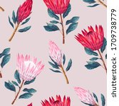 vector seamless pattern with... | Shutterstock .eps vector #1709738779