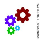 circle cog gear colorful for...