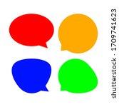 speech bubble for message talk...