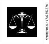 weight balance icon vector art... | Shutterstock .eps vector #1709753776