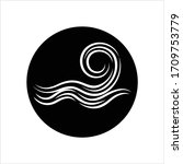 water wave icon  water wave... | Shutterstock .eps vector #1709753779