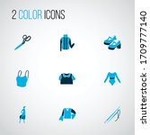 style icons colored set with... | Shutterstock .eps vector #1709777140