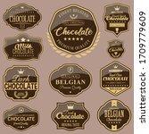 set of vector chocolate labels | Shutterstock .eps vector #1709779609