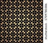 flower golden geometric... | Shutterstock .eps vector #1709780386