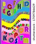 colorful 3d themed english... | Shutterstock .eps vector #1709786629