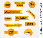 sale   creative banner set... | Shutterstock .eps vector #1709793643