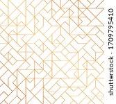 golden art deco seamless... | Shutterstock .eps vector #1709795410