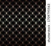 gold art deco simple linear... | Shutterstock .eps vector #1709795563