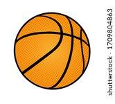 Basketball Ball Icon On White...