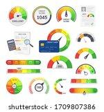credit score indicators. limit... | Shutterstock .eps vector #1709807386