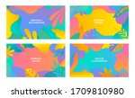 set of vector abstract summer... | Shutterstock .eps vector #1709810980