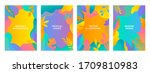 set of vector abstract summer... | Shutterstock .eps vector #1709810983