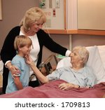 family visiting grandmother in... | Shutterstock . vector #1709813