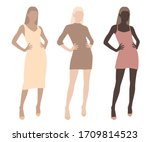Set Of Abstract Fashion Female...
