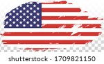 grunge usa flag. american flag... | Shutterstock .eps vector #1709821150