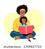 african smiling family. mother... | Shutterstock .eps vector #1709827723